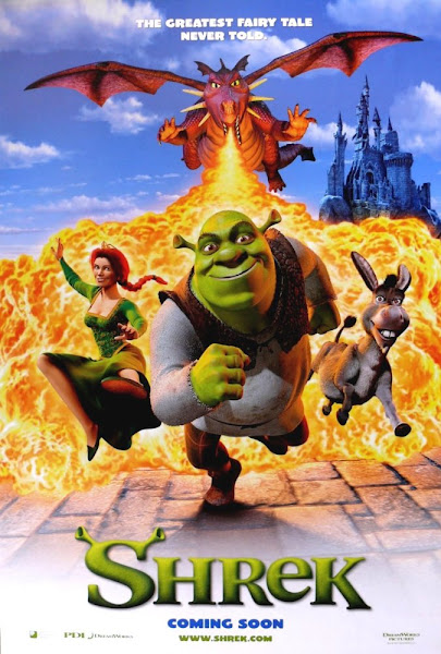 Poster Of Shrek 2001 720p Hindi BRRip Dual Audio Full Movie Download