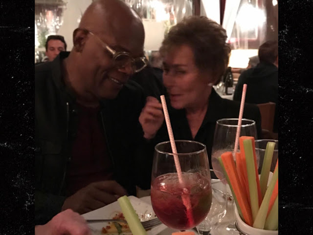 Samuel L. Jackson pictured dining with 'Boss' Judge Judy