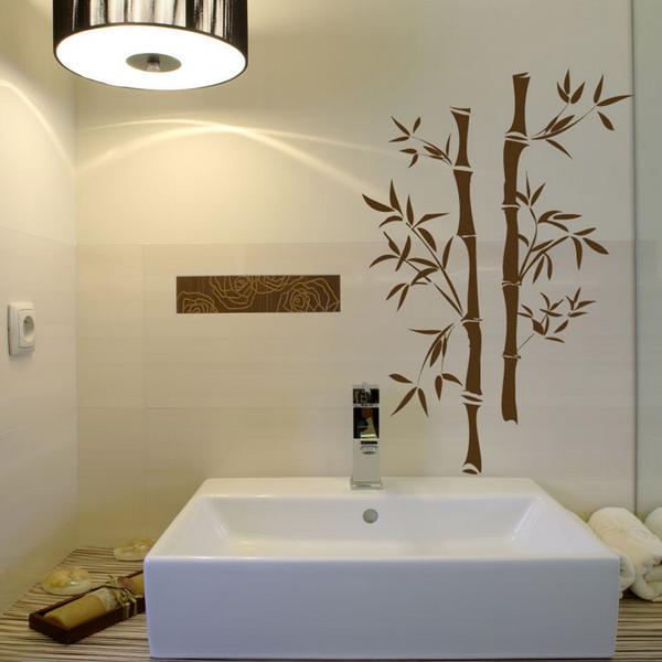 Art Wall Decor Bamboo Flooring Bathroom Wall Green