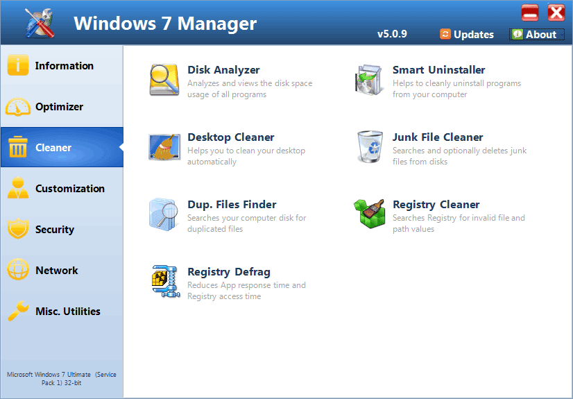 Get Windows 7 Manager