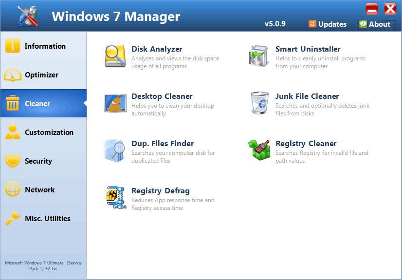 Get Windows 7 Manager