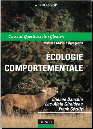 Livre : Ecologie comportementale - Cours et sujets corrigés