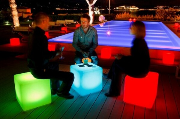 LED Powered illuminating Chairs