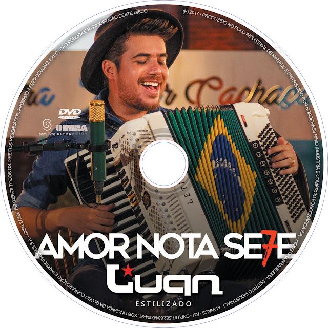 Label DVD Luan Estilizado Amor Nota Se7e