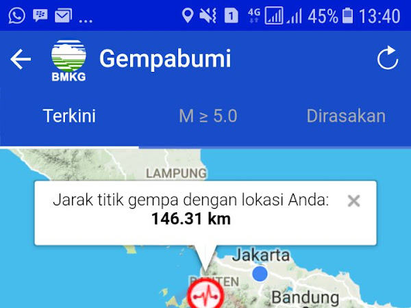 Jakarta di goyang gempa.
