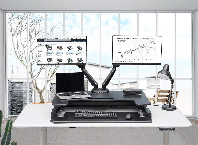 Adjustable Laptop Stand Bed: Standing Desk Converter