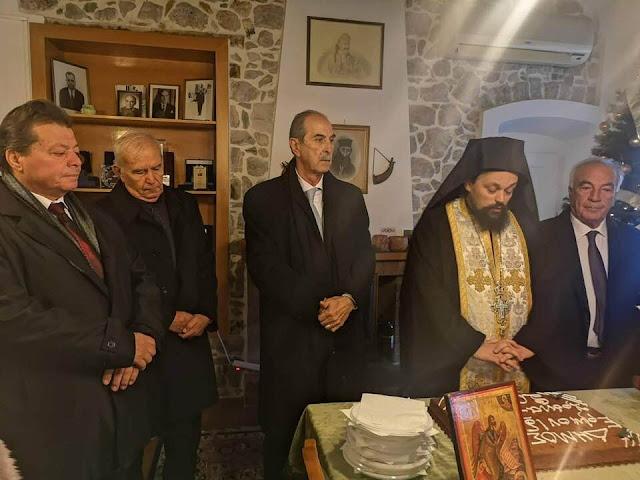 Οι πρώτες ευχές από τον Δήμαρχο Ερμιονίδας στην κοπή της Πρωτοχρονιάτικη Βασιλόπιτας