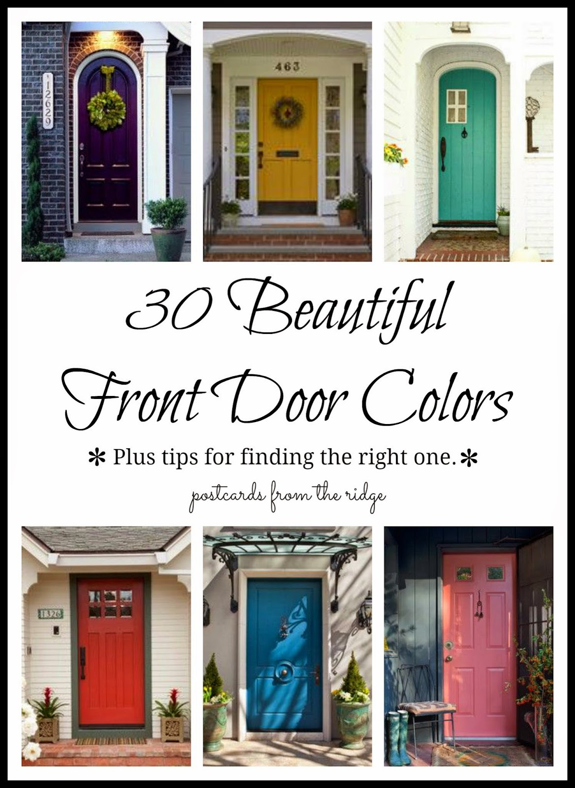Need Ideas For Your Front Door? See 30 Beautiful Front Door Colors Here: