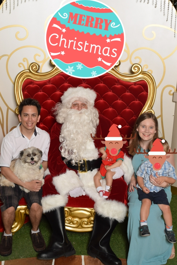 Away From Blue Family Christmas photo with Santa 2016