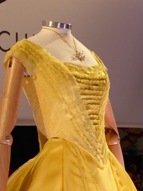 Belle Beauty Beast film dress detail