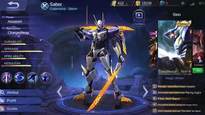 Skin Legend Saber Codename Storm