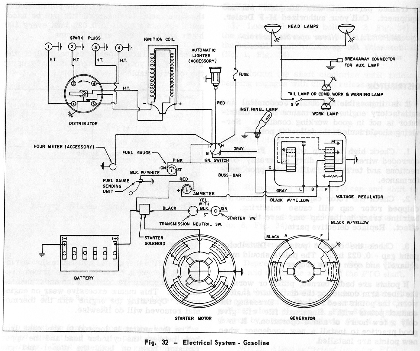Mf 65 Tractor Ignition Switch Wiring Diagram Will Kubota An Idiots Guide To The Massey Ferguson Gas Engine Electrical Rh Idiotsmf65 Blogspot Com Diesel