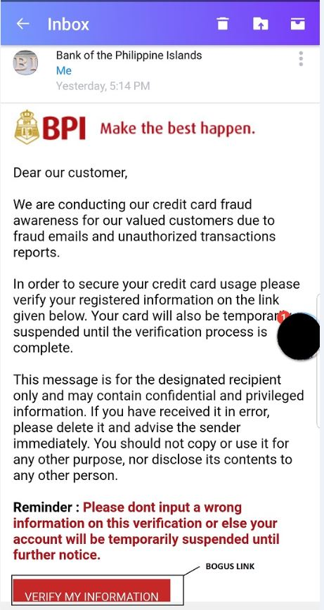 Wandering Can T Go Home Dad S Review Bpi Bank Fraud And Phising Alert