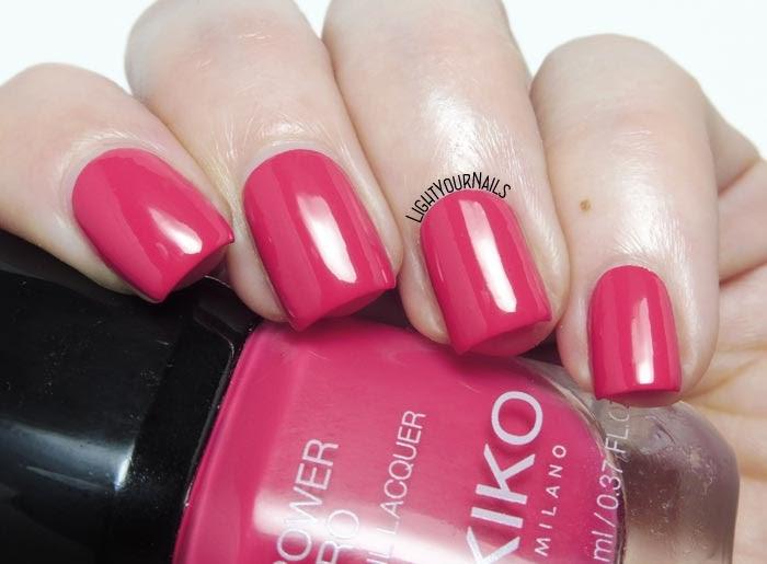 Smalto rosa geranio Kiko Power Pro 109 Watermelon Party geranium pink creme nail polish #kikonails #kikocosmetics #kikotrendsetter #lightyournails