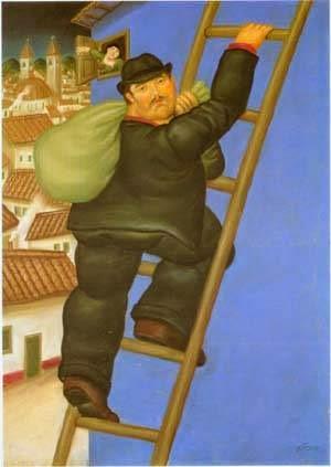 Ladrão ll - Fernando Botero e suas pinturas ~ O pintor das figuras volumosas