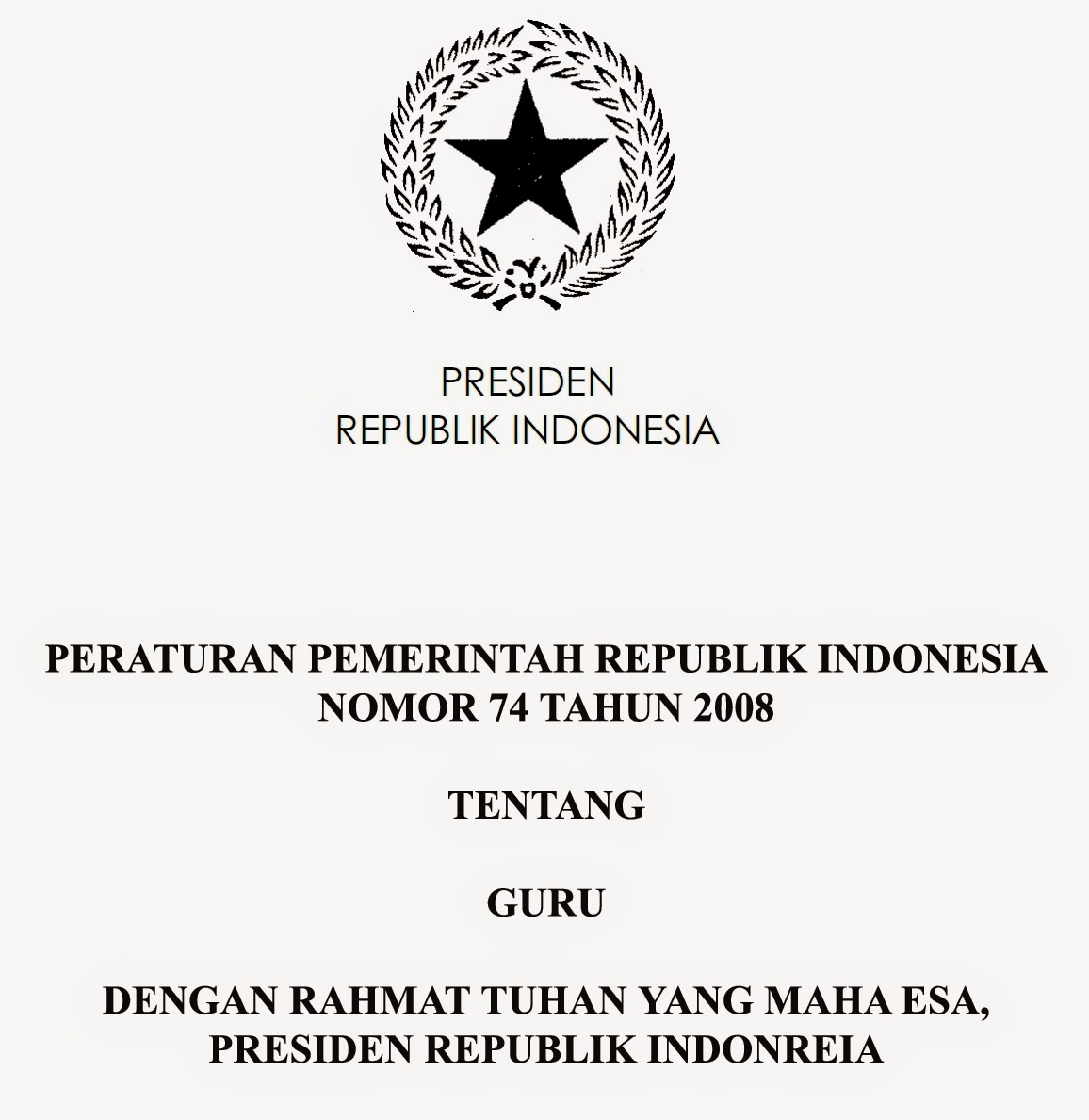PP 74 TAHUN 2008 EBOOK DOWNLOAD