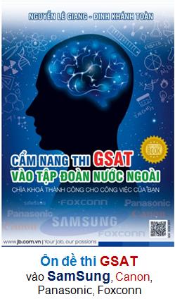Cẩm nang thi GSAT vào Tập đoàn nước ngoài (Samsung)