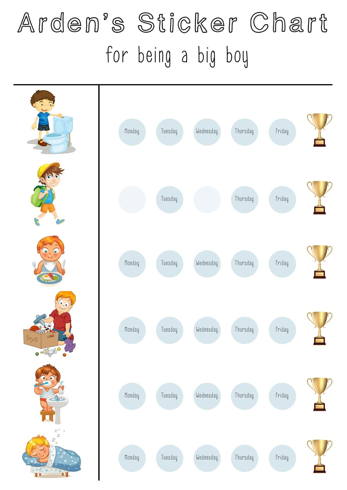 DAILY ROUTINE STICKER CHART FREE PRINTABLE I am Tarryn Donaldson – Sticker Chart