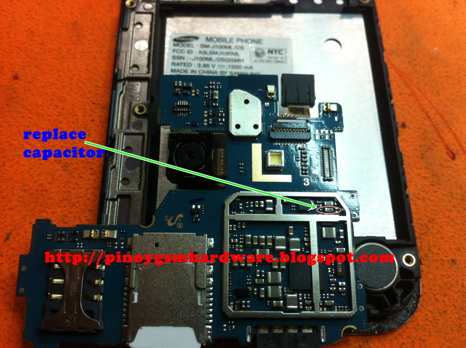 Samsung J100ml  Ds Shorted No Power Solution