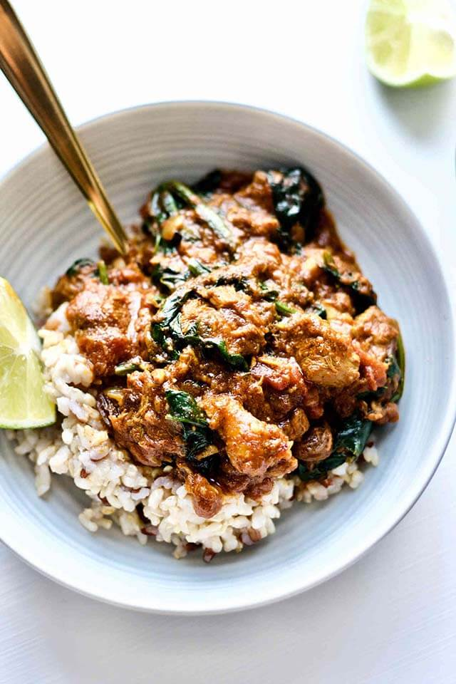 Winter Comfort Food Recipe: Nourishing Lamb & Spinach Curry from Yang's Nourishing Kitchen