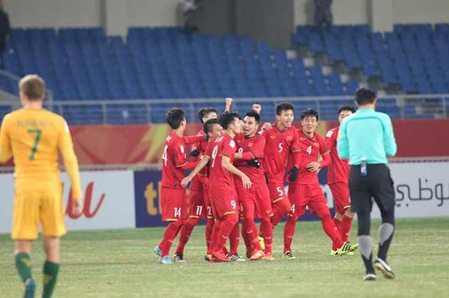 Video U23 Việt Nam - U23 Australia: Chiến thắng lịch sử, người hùng phút 72 3