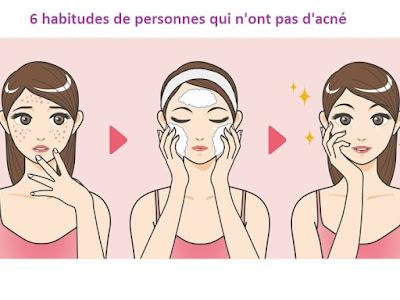 6 habitudes de personnes qui n'ont pas d'acné