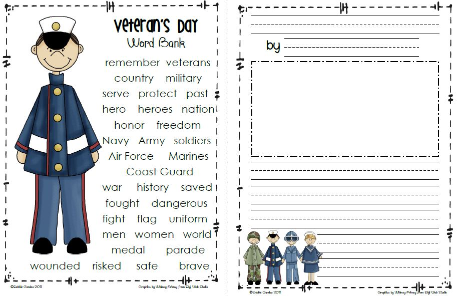Sailing Through 1st Grade Veterans Day Freebie