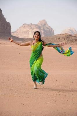 Anushka Shetty Exclusive Green Saree Stills Gallery
