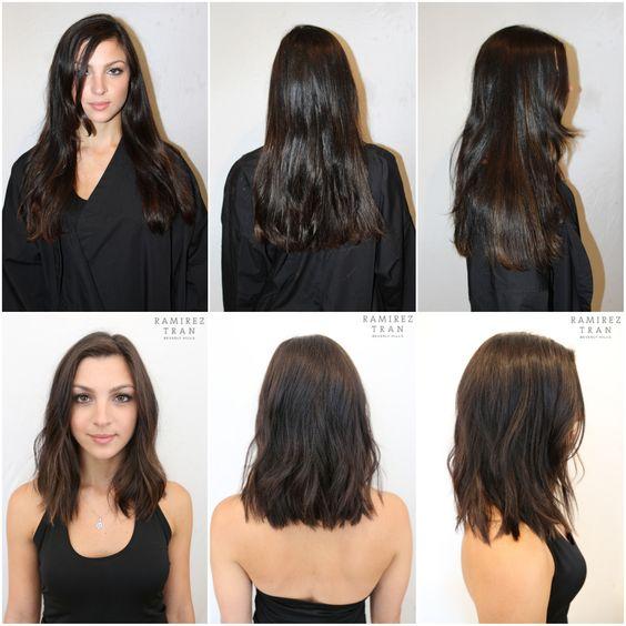inspiration coiffure avant après
