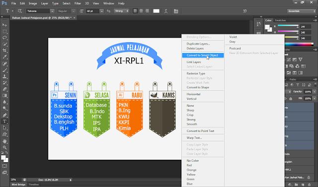Cara Membuat Jadwal Pelajaran Dengan Photoshop