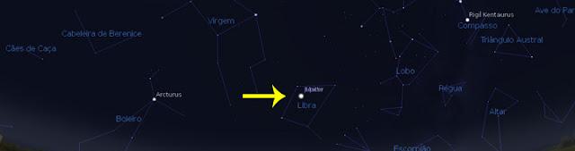 Marte e Júpiter em conjunção - 6 e 7 de janeiro