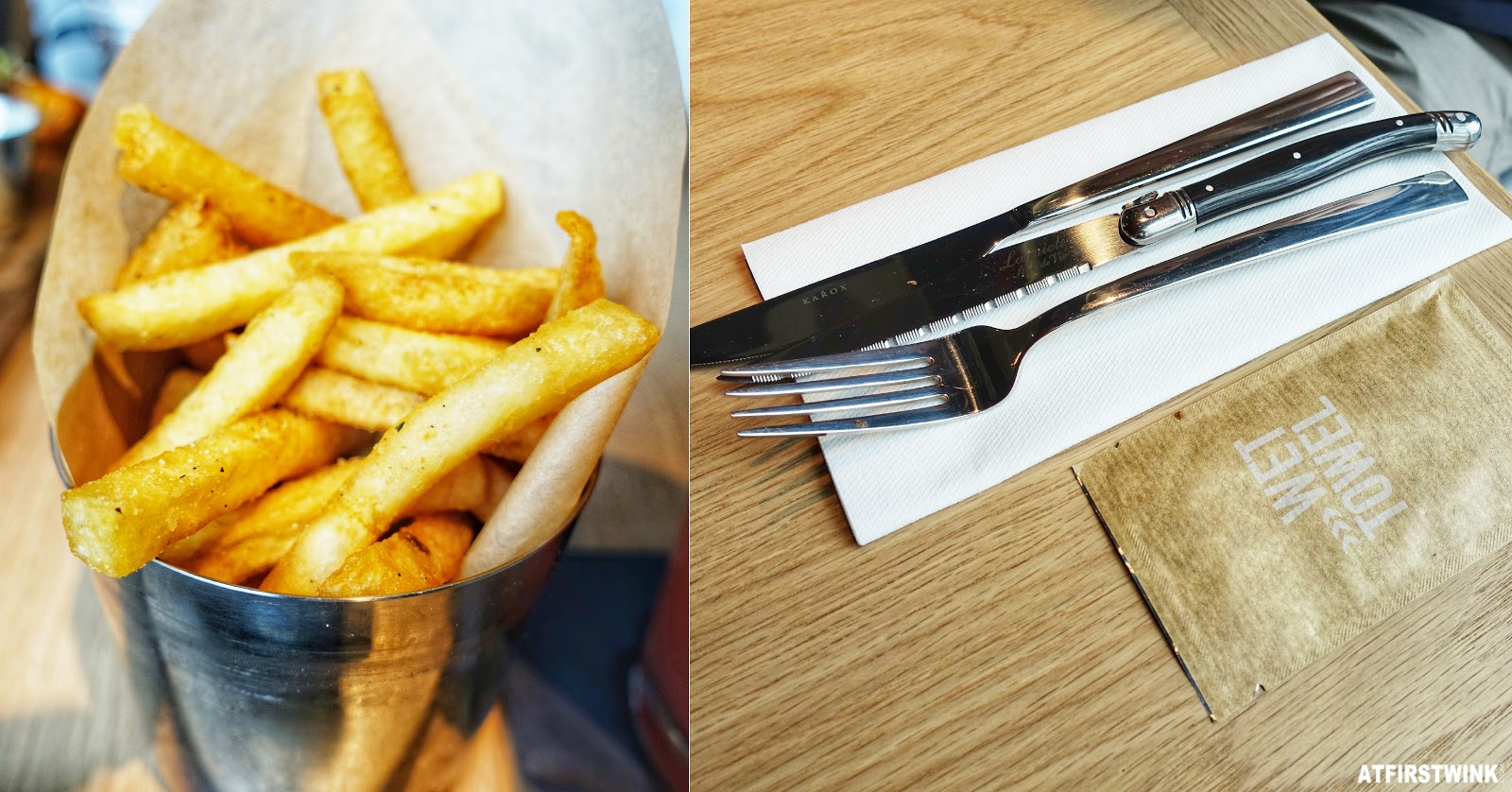 tgi fridays utrecht classic fries cutlery wet tissue