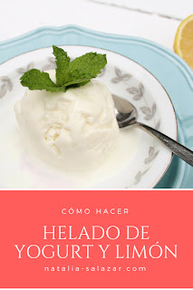 helado ice cream lemon yogurt
