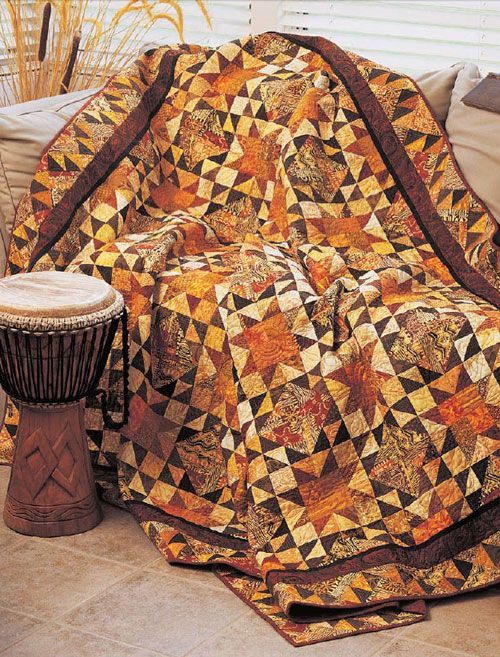 Autumn Glory Star Quilt Free Pattern