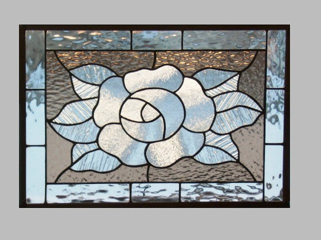 Framed Stained GLASS WINDOW Panels