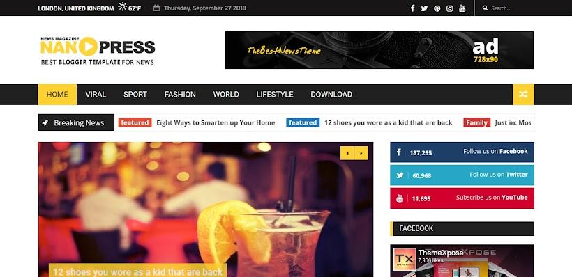 Nanopress Free Blogger Template