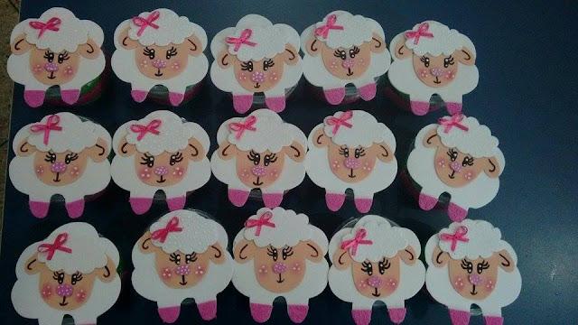 Porta Cupcake Ovelhinha Lembrancinha de Páscoa