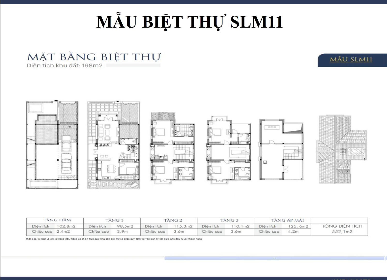 Mẫu biệt thự Nam Cường Dương Nội SLM11