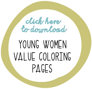 LDS Young Women Values Coloring Pages - ldslane.net
