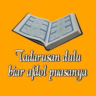 dp bbm tadarus Al Qur'an