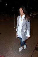 Neha Dhupia in Shirt Denim Spotted at Airport IMG 3538.JPG