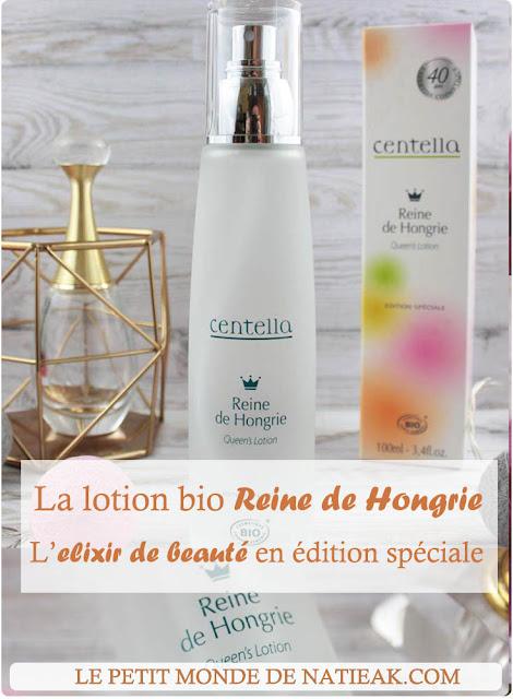 impressions sur la lotion bio visage Reine de Hongrie de Centella