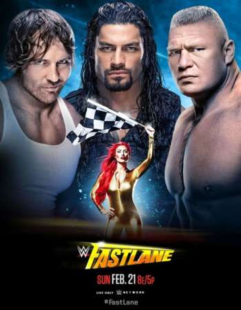 Poster Of WWE Fastlane 21st February 2016 500MB PPV HDTV 480p Free Download Watch Online