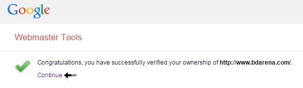 verification success