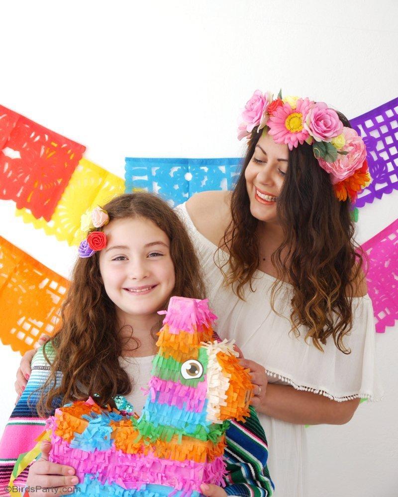 DIY Couronne De Fleurs - apprendre à fabriquer ces jolies accessoires pour les anniversaires, fête mexicaine, la fête des mères ou un mariage! by BirdsParty.fr @BirdsParty