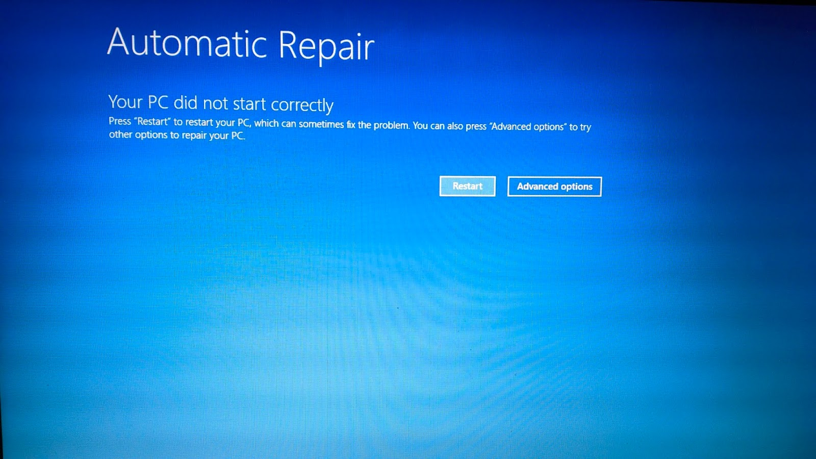 automatic repair windows 10 laptop acer