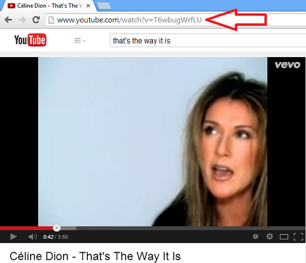 copy video url from address bar