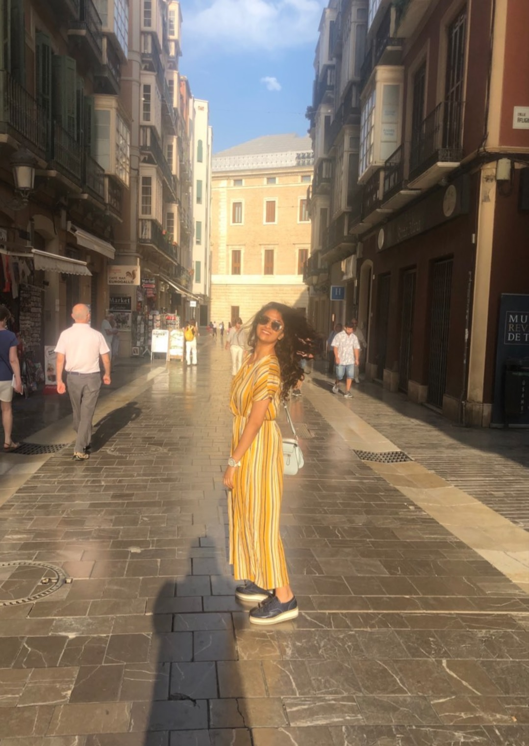 Keerthy Suresh in Yellow and Green with Lovely Smile at Malaga in Spain 2
