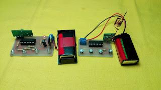Circuito a control remoto, módulos de radiofrecuencia, módulos de 433MHz.