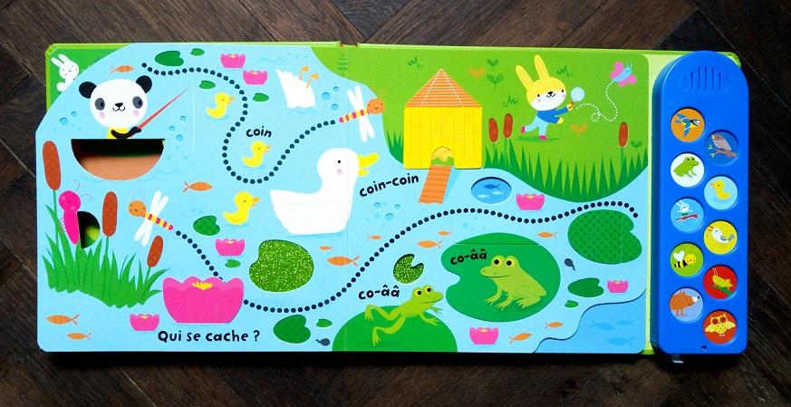 sélection livres, découvertes, nouveautés, éditions, usborne, avec mon doigt, dans la nature, livre musical, mon livre accordéon, bébé d'un an et plus, pour les bébé, lecture pour bébé, katy's eats, katy's family